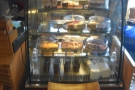 There is a wide selection of cheesecakes and their ilk in a chiller cabinet at the far end.