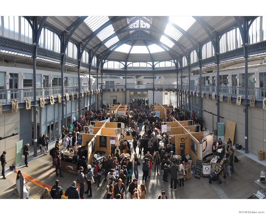 You can get up to the balcony that runs all the way around the Briggait. This is from 2015...