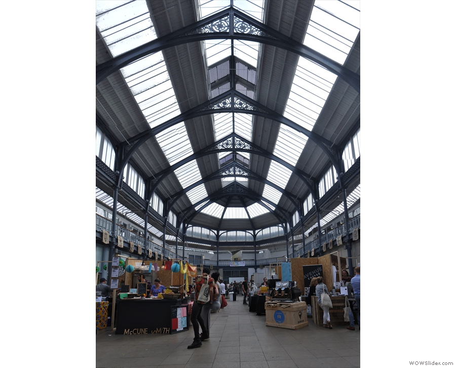 ... helped in no small part by the soaring glass roof of the Briggait.