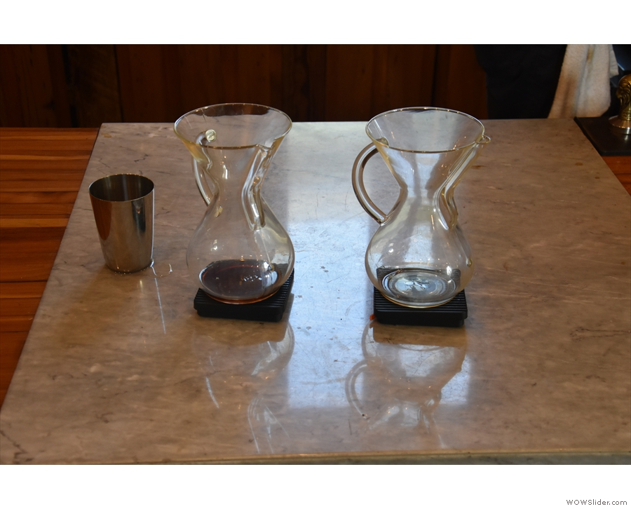... then I returned to the counter for a Chemex of the Kenyan single-orign.