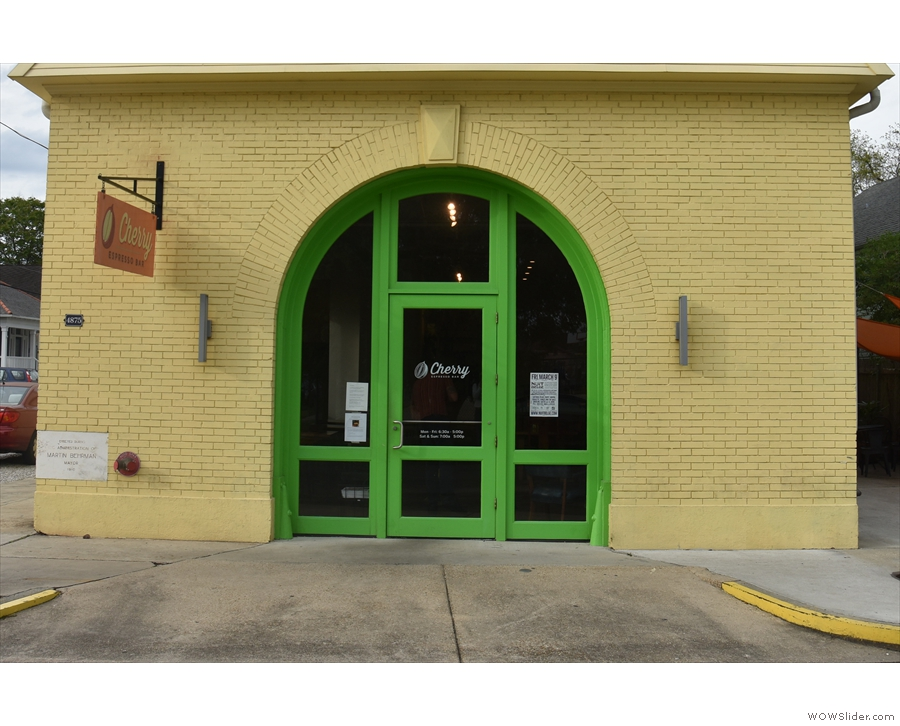 .. since the main entrance is at the front on Laurel Street.