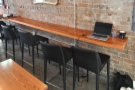 The bar makes a great spot to perch with your laptop.