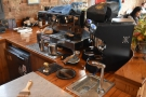 I fancied espresso, the two-group La Marzocco Linea occupying the front of the counter.