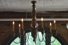 Despite numerous windows, there's also some great lighitng, including this chandellier...