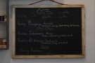 The choices of beans are on another chalkboard on the back wall...