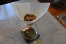 I love watching the coffee bubbling away as it degasses.