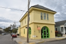 On the corner of Laurel and Upperline Streets in the Uptown District of New Orleans...