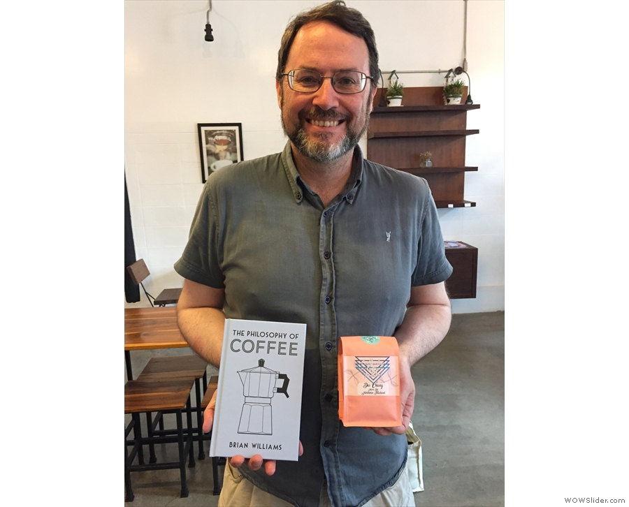 Before I left, I exchanged a copy of my book for a bag of the Doi Chang coffee.