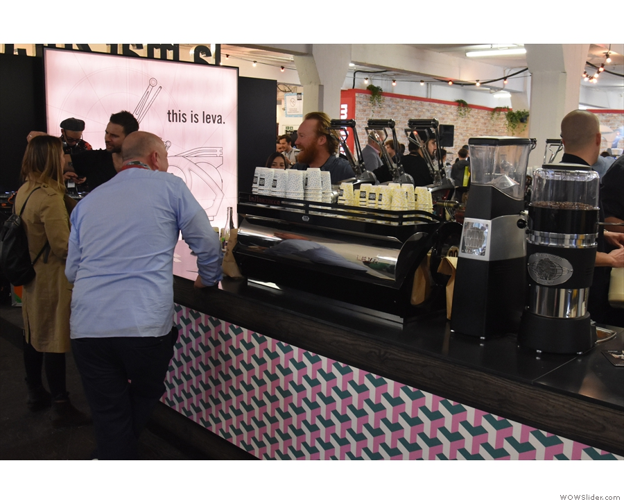 ... to the La Marzocco True Artisan Cafe, this year showcasing the Leva espresso machine.