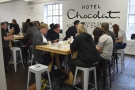 The Hotel Chocolate School of Chocolate, sits between Soho and Shoreditch...