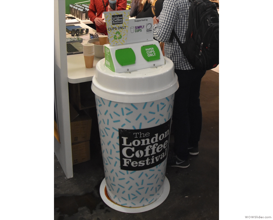 This year the festival renewed its efforts to recycle the mountains of disposable cups...