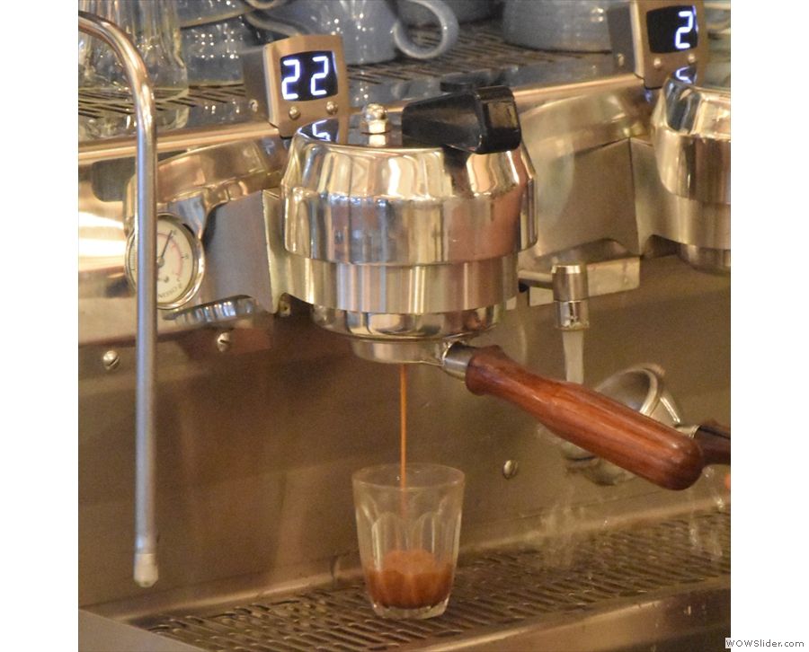 I also like watching espresso extract into a glass...