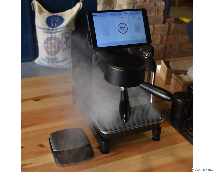 And lo! It produces steam!