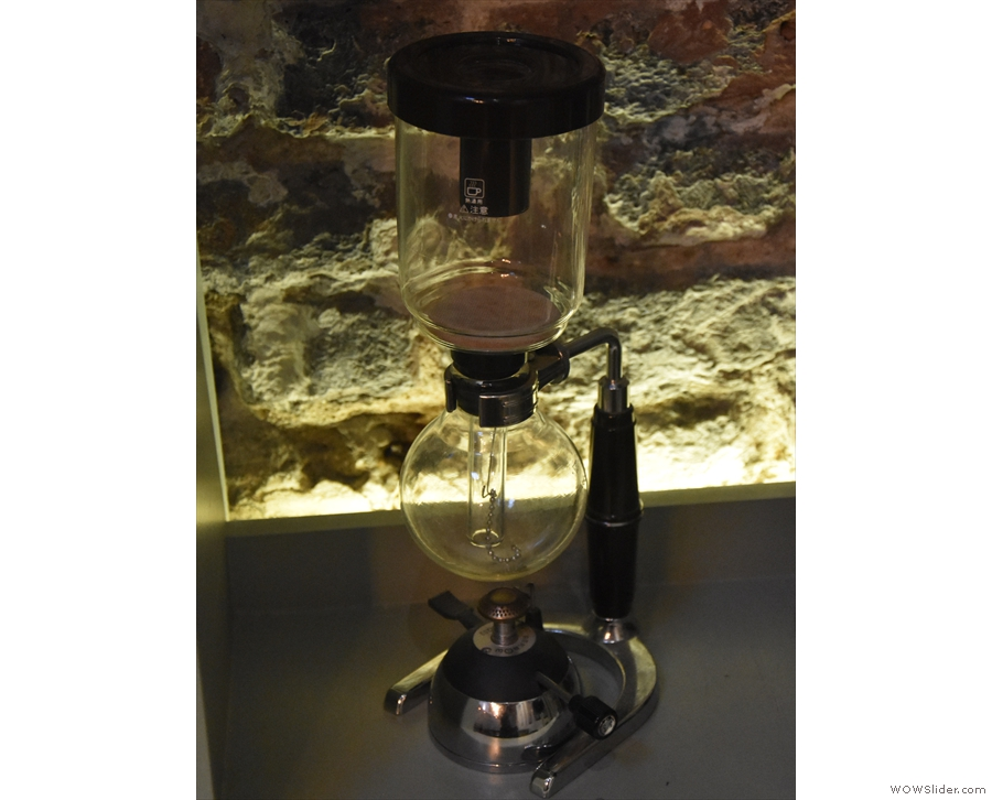 ... while off on the right-hand walll is a more conventional coffee-maker.
