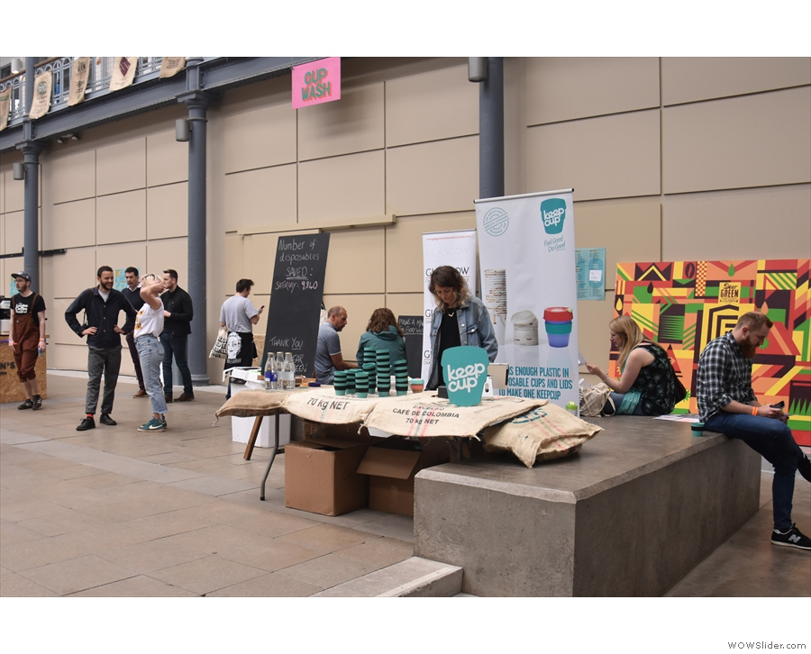 On arrival, you were greeted by two KeepCup stands. To the right, loans...