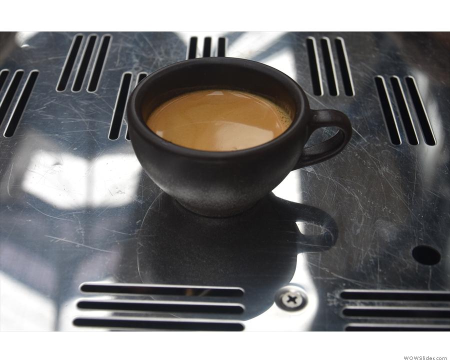 Meanwhile, on both days, my faithful Kaffeeform Cup was on hand for all my espressos.