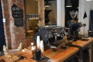 Talking of espresso, the open counter means you can really see the barista at work.