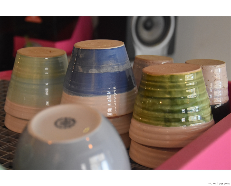 ... partly because the espresso is served in these lovely Claire Henry ceramic cups.