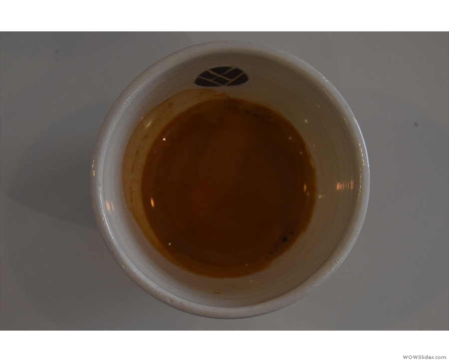 Another view of my espresso / cup.