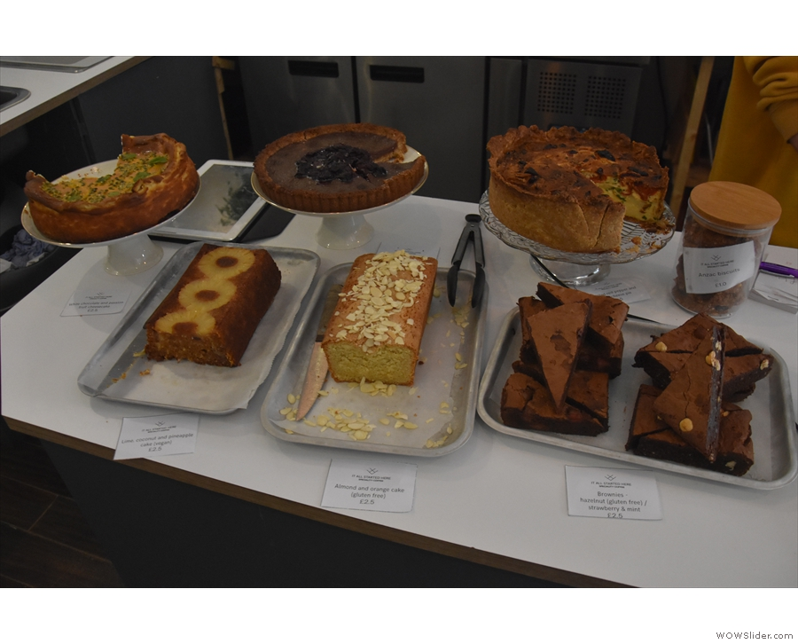 As well as brunch, there's also cake to be had, baked by Harriet.