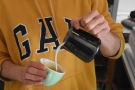 I'll leave you with Joel pouring latte art, something else I love watching.