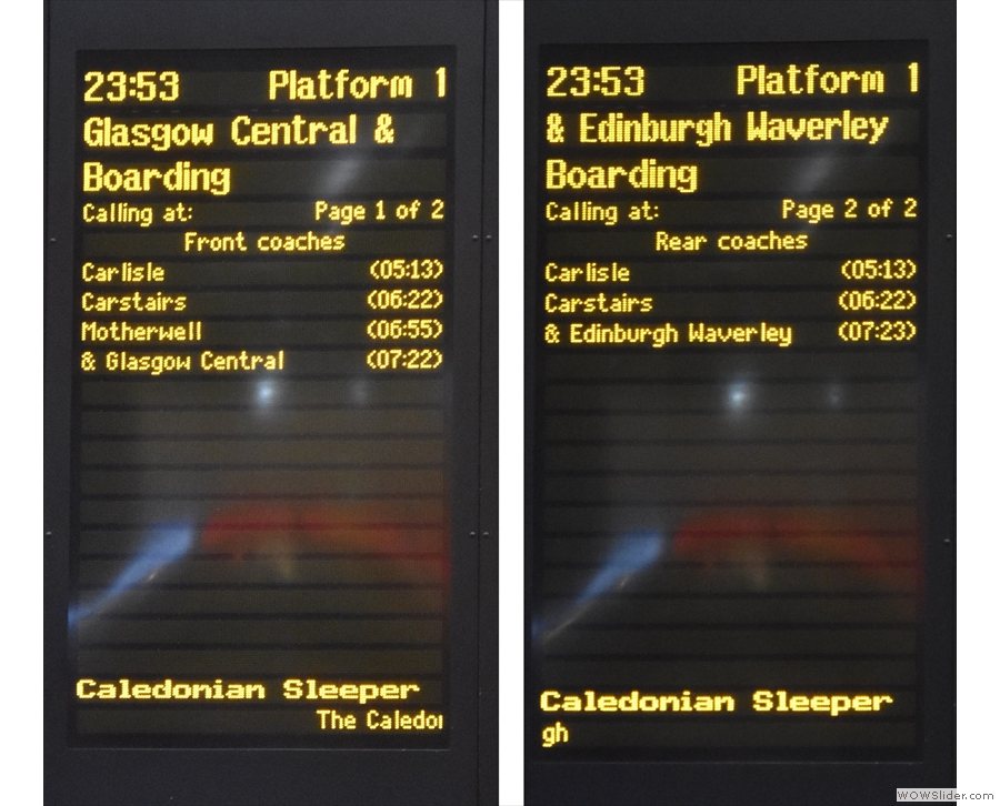 It actually goes to both Glasgow and Edinburgh, splitting at Carstairs. Let's get on!