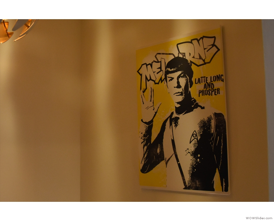 ... while Mr Spock graces one of the alcoves.