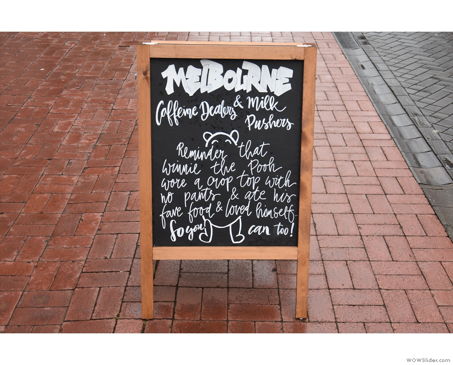 ... Melbourne in Lichfield. The A-board rather gives the game away.