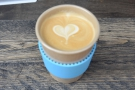 I was rewarded with an excellent flat white in my new Eco To Go cup.