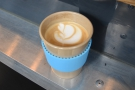 The end result: a lovely flat white in my Eco To Go cup.