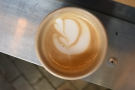 It was probably the best latte art of the whole day too.