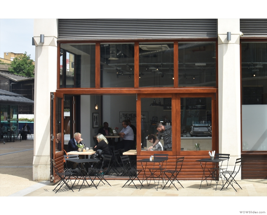 Now it looks like a rather lovely coffee shop with some outside seating on the square.