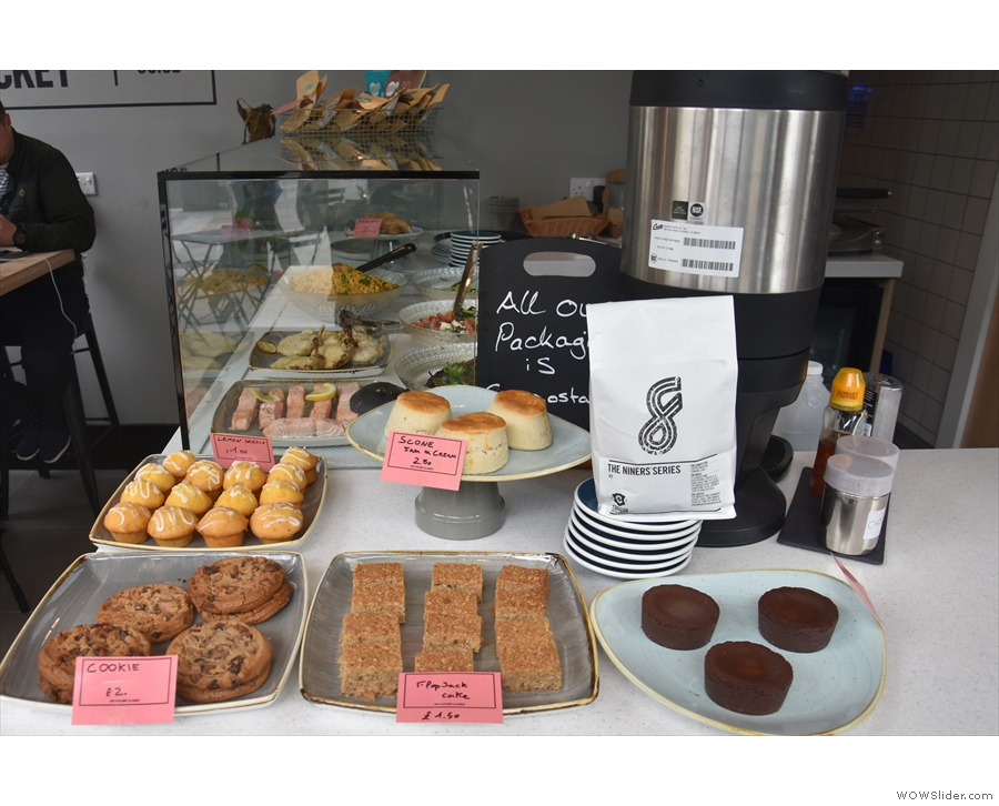 ... where you'll also find a larger selection of cakes.