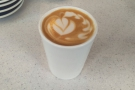 I started with a flat white to go in my Therma Cup on my first day back in Sheldon Square.