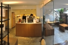 Vietnam Coffee Republic is shallow and wide, with the counter in the right-hand end...
