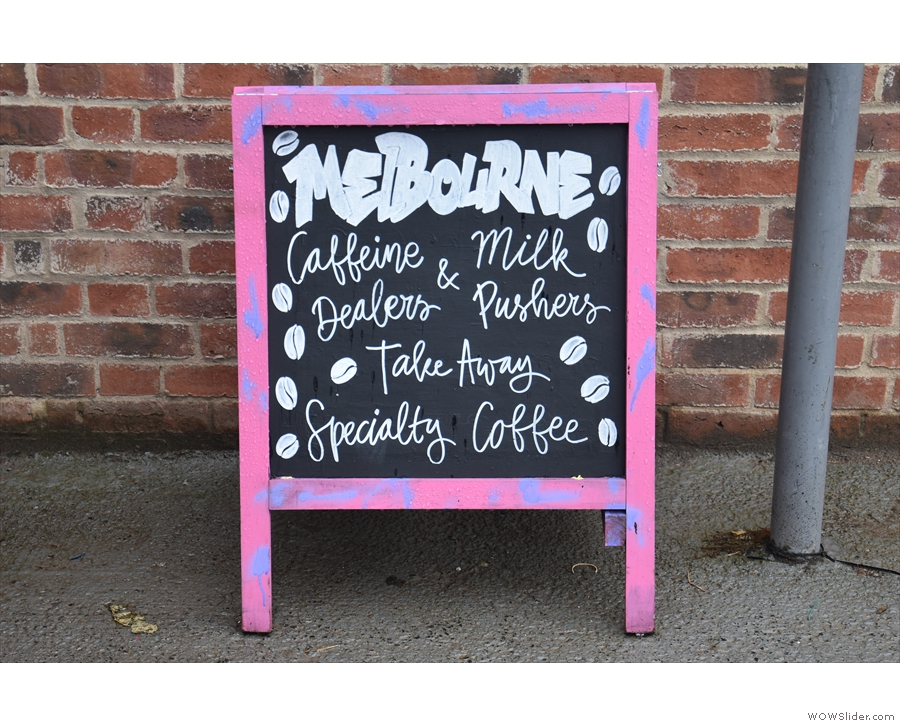 Melbourne in Lichfield: Caffeine Dealers and Milk Pushers. That sums it up nicely.