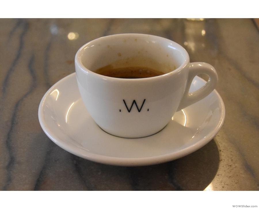 I went for the espresso, however, a single-origin Rwandan...