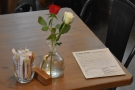 It's not just pictures. There are also flowers on the tables...