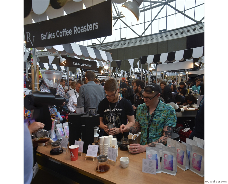 I started off with Bailies from Blflast, which had two stands, one for pour-over...
