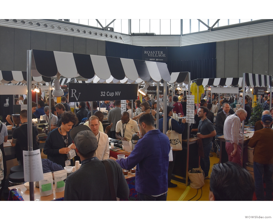 I spent most of my time at the Roasters Village, meeting lots of European roasters.