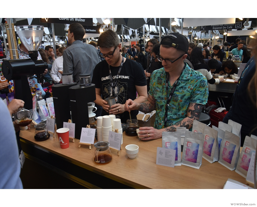 There was lots going on at the pour-over stand...