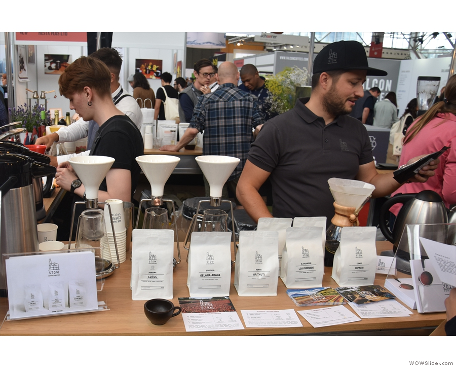 Once again, there were plenty of samples on offer, made using the Gina Brewing System.