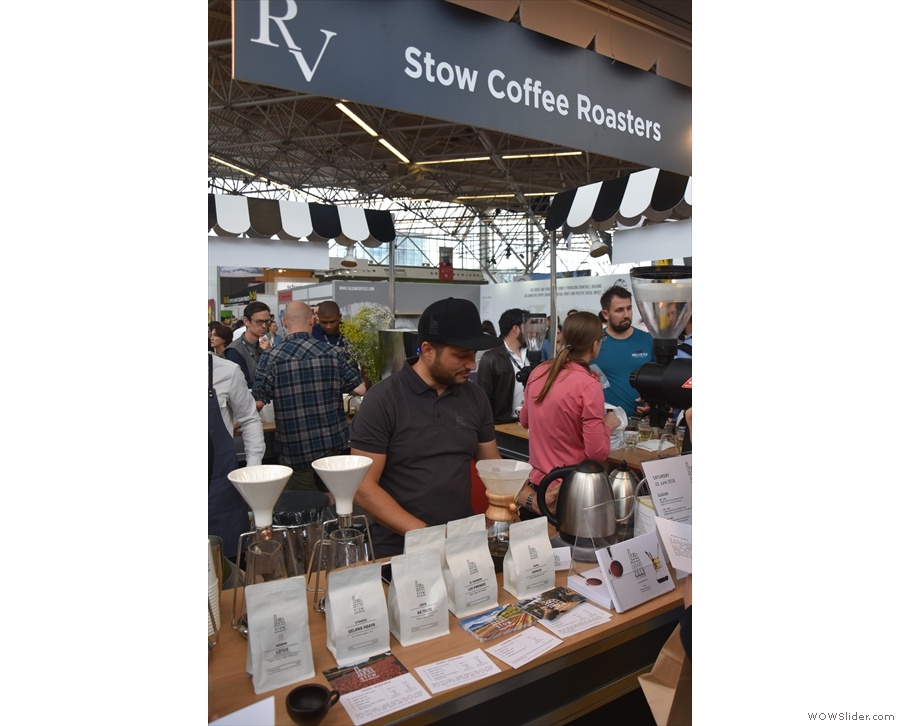 Final stop before lunch was a new name for me: Stow Coffee Roasters from Slovenia.