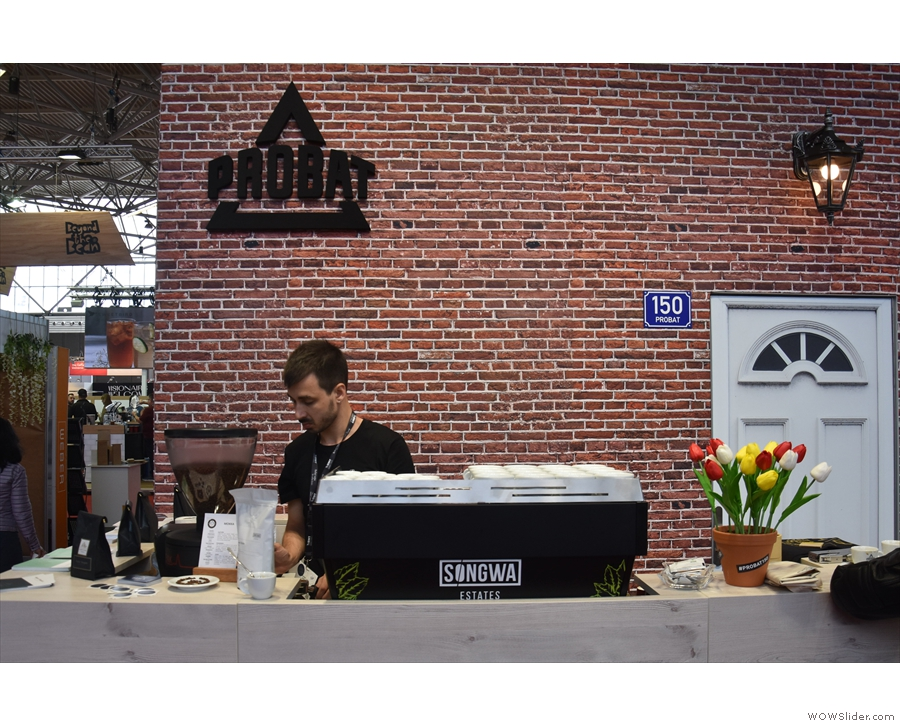 After all that, it was time for some decaf. The Probat stand was hosting PIHA...