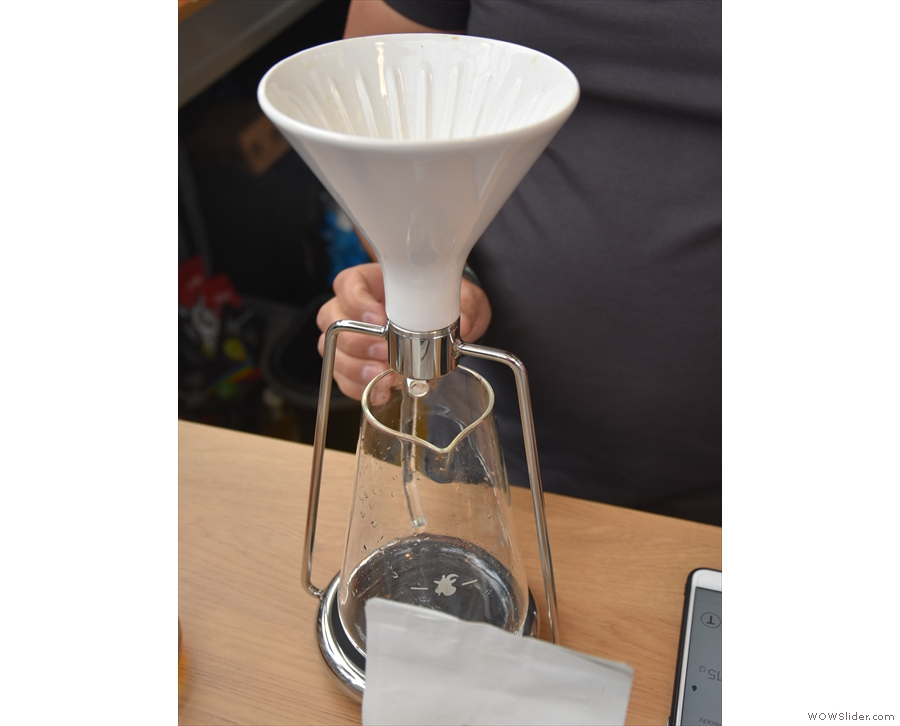 There's a little bit more to it than meets the eye. It's actually the Gina Coffee Brewer.