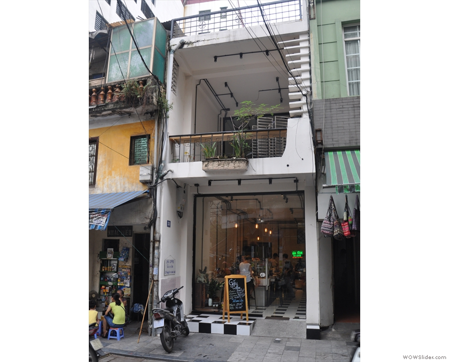 On a busy street in Hanoi's old city, a modest, two storey building is worth a closer look.