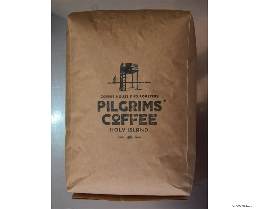 The house-blend on espresso is from Pilgrims Coffee from Holy Island.