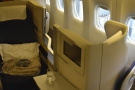So here it is, my seat, 4B, towards the back on the left.