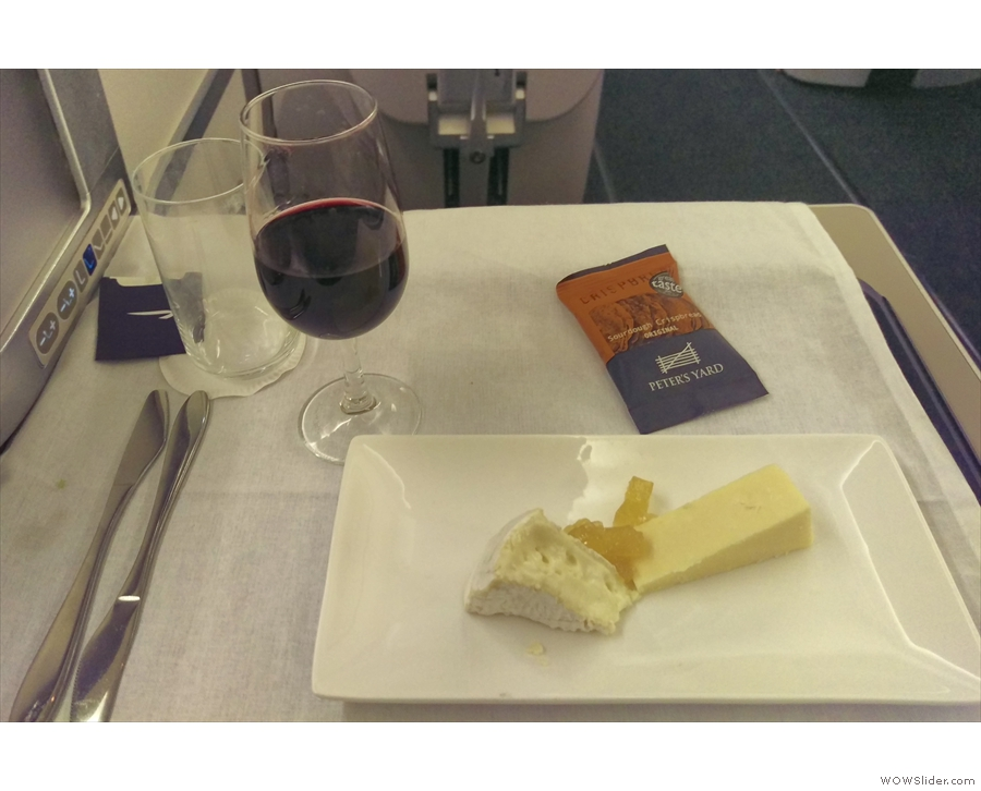 ... which I managed to get some cheese and biscuits to go with it.