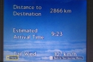 With just under 3,000 km to go and three more hours in the air, not much point in trying.